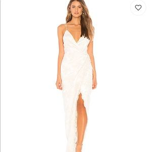 x REVOLVE Adeline Gown in Ivory Michael Costello
